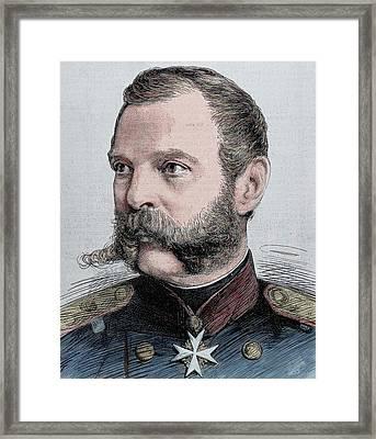 Alexander II (1818-1881 Framed Print by Prisma Archivo