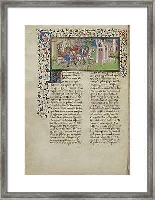Alexander Leaving Macedon Framed Print by British Library