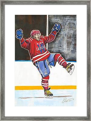 Alexander Ovechkin 2015 Winter Classic Framed Print by Dave Olsen