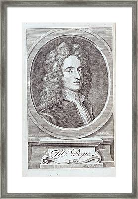 Alexander Pope Framed Print by British Library