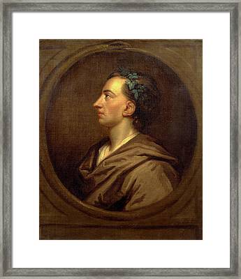 Alexander Pope Profile, Crowned With Ivy Framed Print