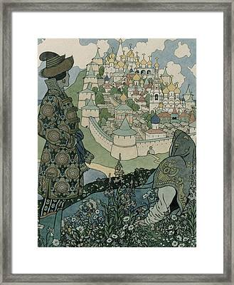 Alexander Pushkin's Fairytale Of The Tsar Saltan Framed Print by Ivan Jakovlevich Bilibin