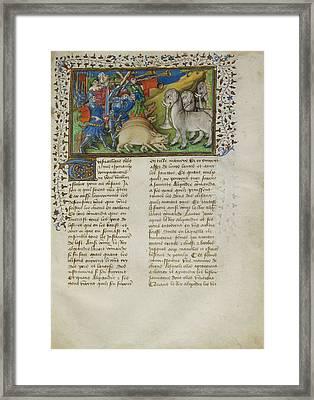 Alexander Repels Elephants Framed Print by British Library