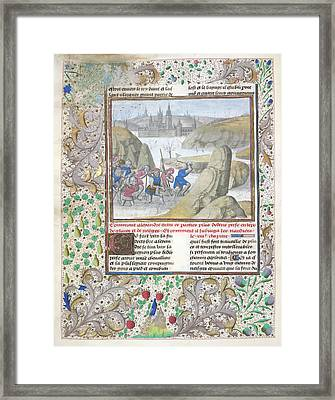 Alexander The Great In Persia Framed Print by British Library