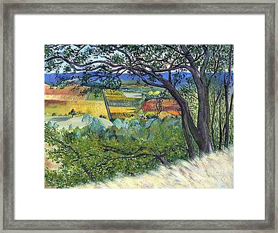 Framed Print featuring the painting Alexander Valley Vinyards by Asha Carolyn Young