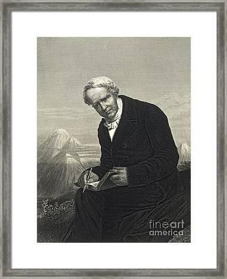 Alexander Von Humboldt, German Naturalist Framed Print by British Library