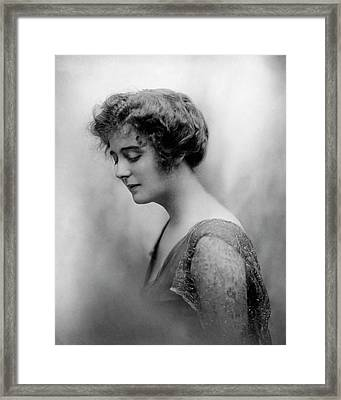 Alexandra Carlisle Wearing A Chiffon Dress Framed Print