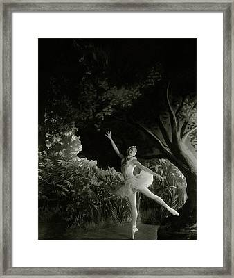Alexandra Danilova In Swan Lake Framed Print by Cecil Beaton