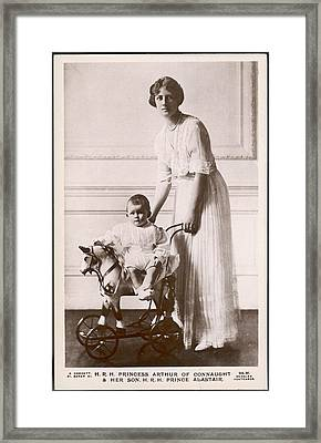 Alexandra Duchess Of Connaught Wife Framed Print by Mary Evans Picture Library