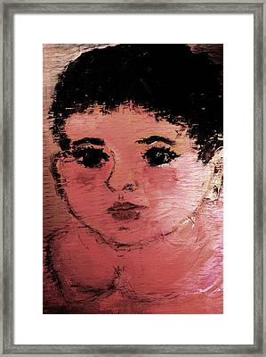 Framed Print featuring the painting Alexandra by Evelina Popilian