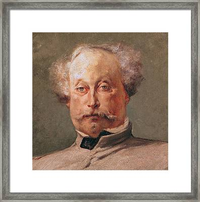 Alexandre Dumas Framed Print by Georges Clairin