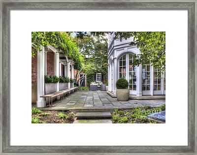 Framed Print featuring the photograph Alexandria Courtyard by ELDavis Photography
