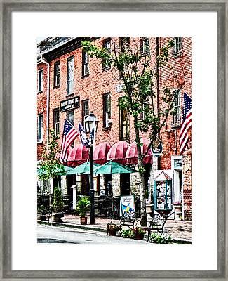 Alexandria Street With Cafe Framed Print