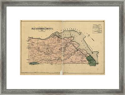 Alexandria Virginia 1878 Framed Print