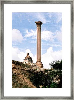 Framed Print featuring the photograph Alexandrian Ruins by Cassandra Buckley