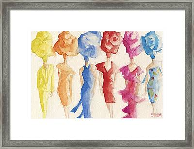 Alexis Mabille Couture - Fashion Illustration Art Print Framed Print by Beverly Brown