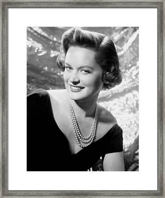 Alexis Smith, Ca. Early 1950s Framed Print by Everett