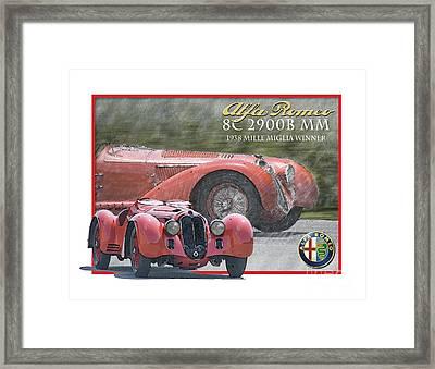 Alfa Romeo 8c 2900b Mm Framed Print by Dan Knowler