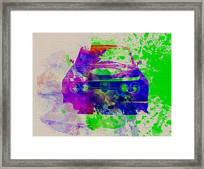 Alfa Romeo Front Watercolor 1 Framed Print by Naxart Studio