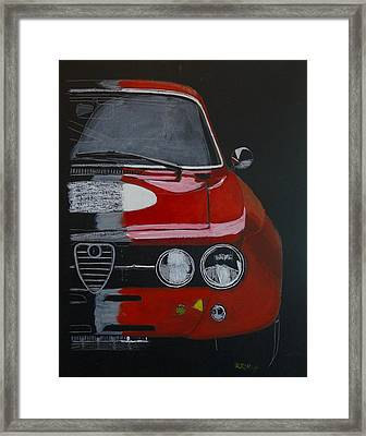 Framed Print featuring the painting Alfa Romeo Gtv  by Richard Le Page