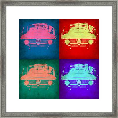 Alfa Romeo  Pop Art 1 Framed Print by Naxart Studio