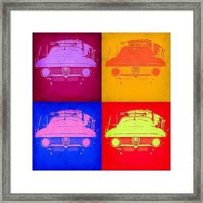 Alfa Romeo  Pop Art 2 Framed Print by Naxart Studio