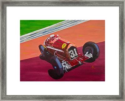 Alfa Romeo Tipo B P3  Framed Print by Anna Ruzsan