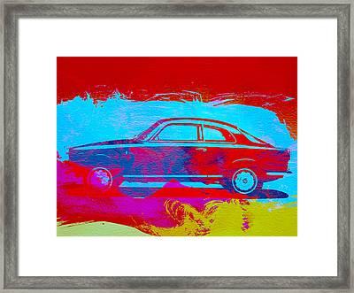 Alfa Romeo  Watercolor 1 Framed Print by Naxart Studio