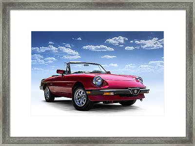 Alfa Spider Framed Print by Douglas Pittman