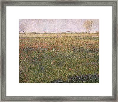 Alfalfa, St Denis Framed Print by Georges Pierre Seurat