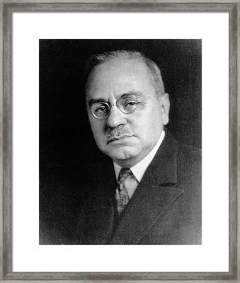 Alfred Adler Framed Print by National Library Of Medicine