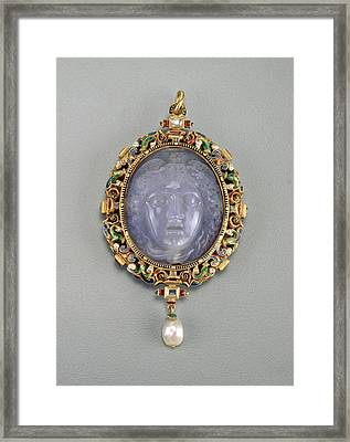 Alfred André French, 1839 - 1919, Pendant With The Head Framed Print by Quint Lox