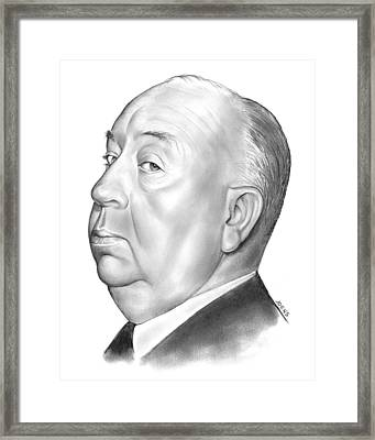 Alfred Hitchcock Framed Print by Greg Joens