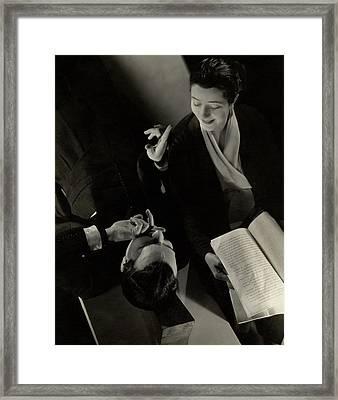 Alfred Lunt And Lynn Fontanne Framed Print by Edward Steichen