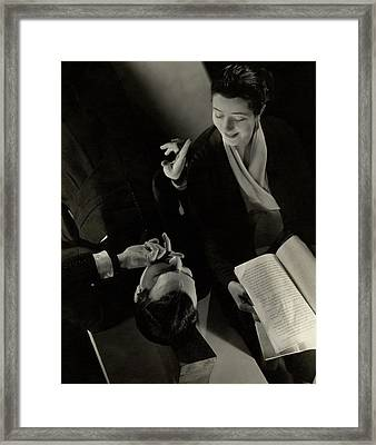 Alfred Lunt And Lynn Fontanne Framed Print