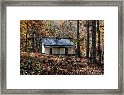 Alfred Reagan's Home In Fall Framed Print by Debbie Green