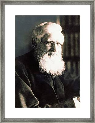 Alfred Russel Wallace Framed Print by American Philosophical Society
