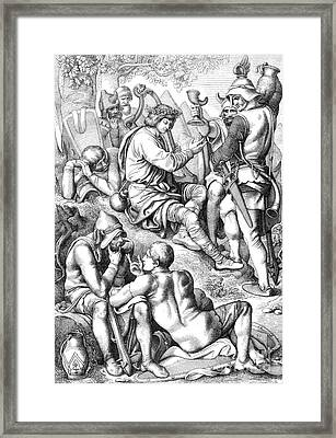Alfred The Great, Spying Bard Legend Framed Print
