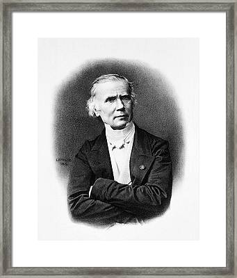 Alfred Velpeau Framed Print by National Library Of Medicine