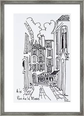 Alfresco Dining In A Plaza, Aix En Framed Print