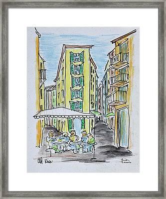 Alfresco Dining In Old Nice, Nice Framed Print