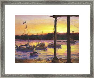 Algarve Sunset Framed Print