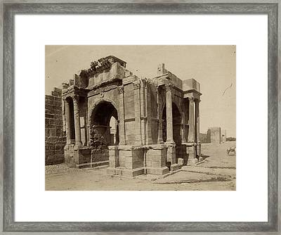 Algeria Arch Of Caracalla Framed Print by Granger