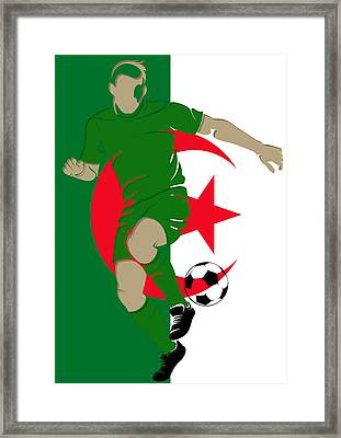 Algeria Soccer Player3 Framed Print by Joe Hamilton