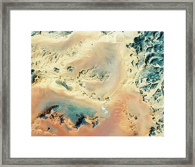 Algerian Sahara Framed Print by Geoeye