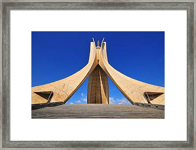 Algiers Martyrs Monument Framed Print by Miguel Torres