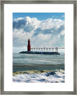 Algoma Pierhead Lighthouse Framed Print