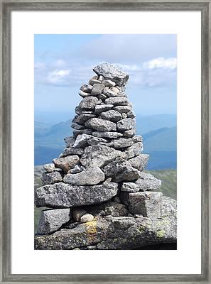 Algonquin Cairn Framed Print