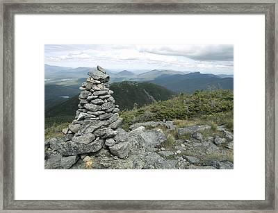 Algonquin Mountain Cairn Framed Print
