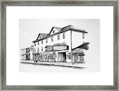 Algonquin Theater Manasquan Nj Framed Print